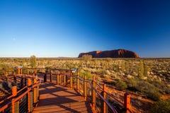 Uluru at Sunrise Stock Images