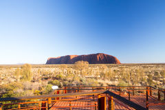 Uluru at Sunrise Royalty Free Stock Images
