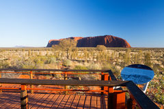 Uluru at Sunrise Stock Photo