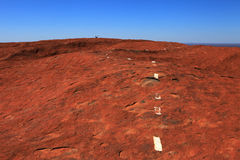 Uluru. Typical landscape and rock Uluru in central Australia, symbol of Australia Stock Photo