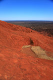 Uluru. Typical landscape and rock Uluru in central Australia, symbol of Australia Stock Photos