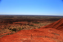 Uluru. Typical landscape and rock Uluru in central Australia, symbol of Australia Royalty Free Stock Images
