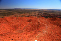Uluru. Typical landscape and rock Uluru in central Australia, symbol of Australia Royalty Free Stock Photos