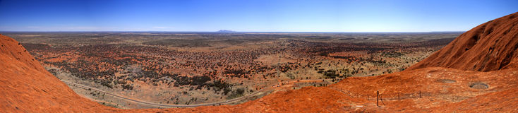 Uluru. Typical landscape and rock Uluru in central Australia, symbol of Australia Royalty Free Stock Photography