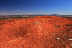 Uluru. Typical landscape and rock Uluru in central Australia, symbol of Australia Stock Image