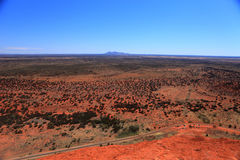 Uluru. Typical landscape and rock Uluru in central Australia, symbol of Australia Royalty Free Stock Image
