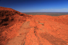Uluru. Typical landscape and rock of Uluru, symbol of Australia Stock Photos