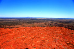 Uluru. Typical landscape and rock Uluru, symbol of Australia, in central Australia Royalty Free Stock Images