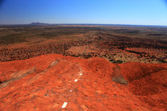 Uluru. Typical landscape and rock Uluru, symbol of Australia, in central Australia Royalty Free Stock Image