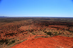 Uluru. Typical landscape and rock Uluru, symbol of Australia, in central Australia Stock Photo