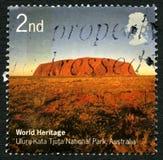 Uluru UK portostämpel Royaltyfri Fotografi