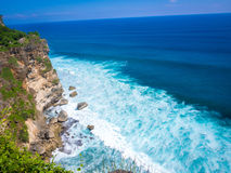Uluwatu海滩,巴厘岛,印度尼西亚 免版税库存图片