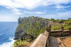 Uluwatu Świątynny punkt W Południowym Bali Fotografia Stock