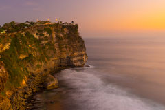 Uluwatu beautiful sunset Royalty Free Stock Photo