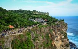 Uluwatu cliff in Bali, Indonesia Royalty Free Stock Image