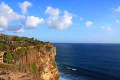 Uluwatu Cliffs, Uluwatu, Bali, Indonesia Royalty Free Stock Photography