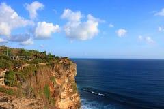 Uluwatu Cliffs, Uluwatu, Bali, Indonesia royalty free stock photography
