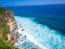 Uluwatu plaża, Bali, Indonezja obrazy royalty free