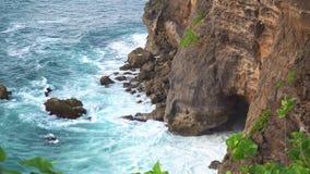Uluwatu, popular tourist destination, Bali, Indonesia. Uluwatu cliff, popular tourist destination, Bali Indonesia stock video footage