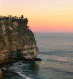 Uluwatu sunset Royalty Free Stock Photo