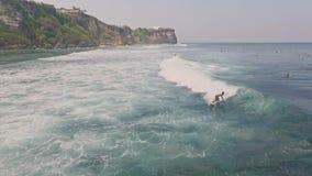 Uluwatu Surfuje Bali anteny zwolnione tempo zdjęcie wideo