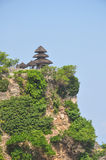 Uluwatu Temple. Perched on a cliff overlooking the Indian Ocean in Bali, Indonesia Stock Photos