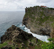 Uluwatu temple at cliff, Bali Royalty Free Stock Images