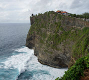 Uluwatu temple at cliff, Bali Royalty Free Stock Photos