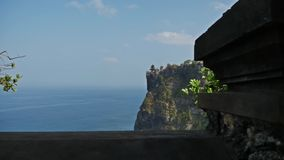 Uluwatu temple in FHD. Gimbal shot of the Uluwatu temple in Bali, Indonesia stock video