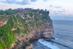 Uluwatu Temple. Photo of a clif at Uluwatu Temple in Bali Royalty Free Stock Photography