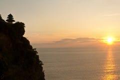 Uluwatu temple on sunset (Bali) Royalty Free Stock Photo