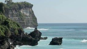 Uluwatu. View of Uluwatu coast and sea in Bali, Indonesia stock video footage