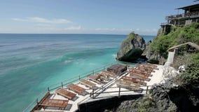 Uluwatu. View of ocean in Uluwatu in Bali, Indonesia stock video footage