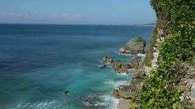 Uluwatu. View of sea and coastline from Uluwatu in Bali, Indonesia stock footage