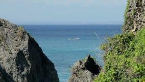 Uluwatu. View of sea and coastline from Uluwatu in Bali, Indonesia stock video