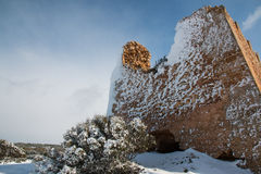 Uluzzo tower after a exceptional snowfall Stock Images