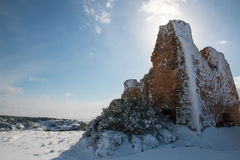 Uluzzo tower after a exceptional snowfall Stock Photography