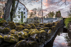 Ulva Kvarn. Water mill located near Uppsala, Sweden royalty free stock photo