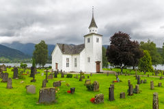 Ulvik wooden church, Norway Royalty Free Stock Images