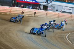 Russian speedway championship among Russian teams royalty free stock photos