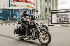 Ulyanovsk Rosja, Maj, - 03 2019: Otwarcie motocyklu sezon zdjęcia royalty free