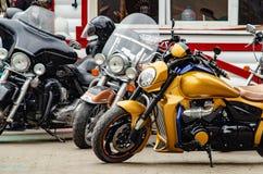 Ulyanovsk Rosja, Maj, - 03 2019: Otwarcie motocyklu sezon - silnika przedstawienie Bezpłatna wystawa na otwartym powietrzu fotografia royalty free