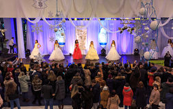 ULYANOVSK, RUSSIA, DECEMBER 03, 2016: Beauty Contest Miss Ulyanovsk in mall on December 03, 2016 in Ulyanovsk, Russia. Stock Photo