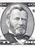 Ulysses Grant portrait. From American money stock photography