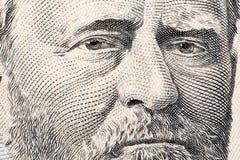 Ulysses Grant un ritratto del primo piano Fotografie Stock