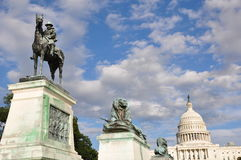Ulysses S. Grant Cavalry Memorial. In front of Capitol Hill in Washington, DC, USA Royalty Free Stock Photography