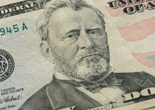 Ulysses S. Grant face on US fifty or 50 dollars bill macro. United states money closeup Royalty Free Stock Photography