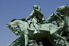 Ulysses S. Grant Memorial. A detail of the Ulysses S. Grant Memorial - the largest equestrian statue in the United States royalty free stock photos