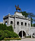 Ulysses S. Grant Memorial. This is a Summer picture of the Ulysses S. Grant Memorial located in Lincoln Park in Chicago, Illinois in Cook County.  This Monument Royalty Free Stock Image