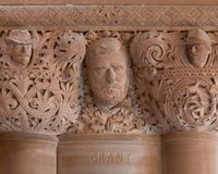 Ulysses S. Grant stonework detail in New York State Capitol royalty free stock photos